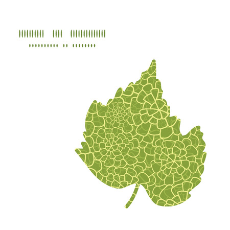 macro leaf: Vector abstract green natural texture leaf silhouette pattern frame