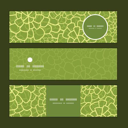 website header: Vector abstract green natural texture horizontal banners set pattern background