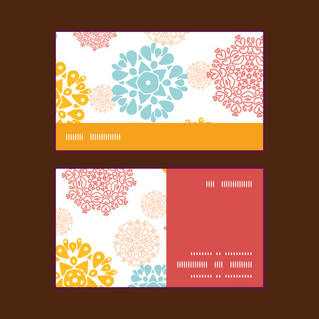 wheal: Vector abstract decorative circles stars horizontal stripe frame pattern business cards set