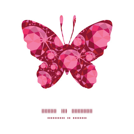 ruby: Vector ruby butterfly silhouette pattern frame