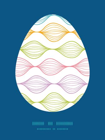 sillhouette: Vector colorful horizontal ogee Easter egg sillhouette frame card template