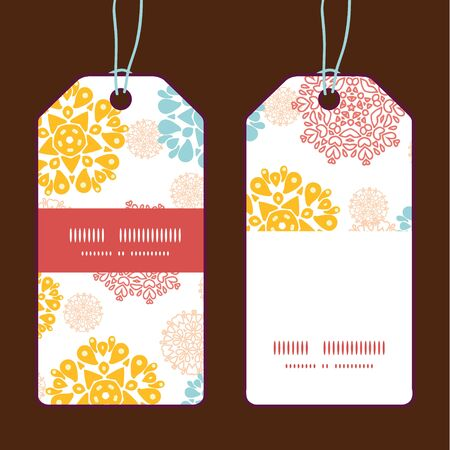 wheal: Vector abstract decorative circles stars vertical stripe frame pattern tags set