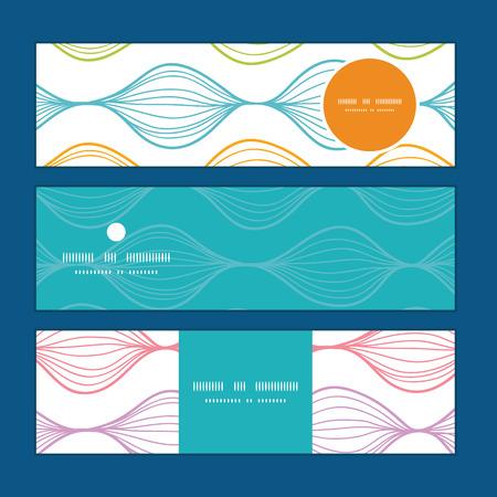 horizontal: Vector colorful horizontal ogee horizontal banners set pattern background Illustration