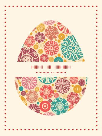 wheal: Vector abstract decorative circles Easter egg sillhouette frame card template