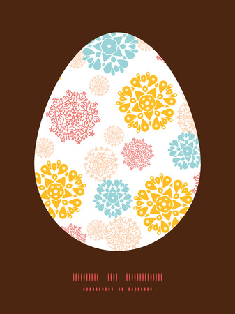 wheal: Vector abstract decorative circles stars Easter egg sillhouette frame card template
