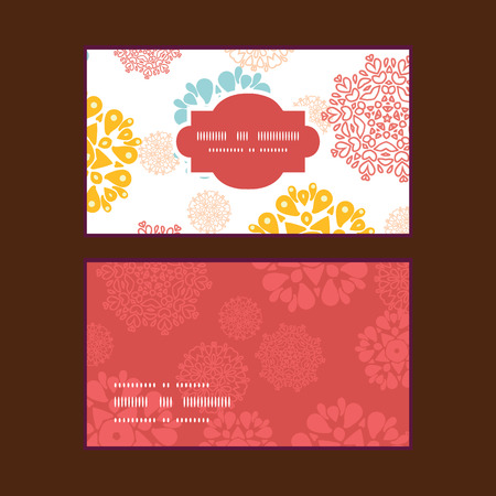 wheal: Vector abstract decorative circles stars horizontal frame pattern business cards set Illustration