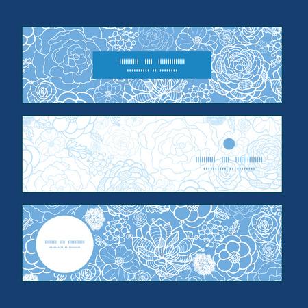 Vector dentelle mauve fleurs bannières horizontales mettre de fond de modèle Banque d'images - 36656398