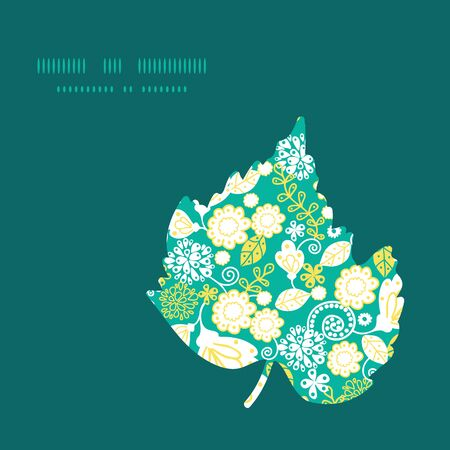emerald: Vector emerald flowerals leaf silhouette pattern frame