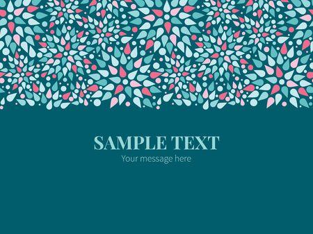horizontal border: Vector abstract colorful drops horizontal border greeting card invitation template