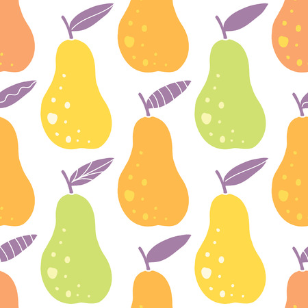 yummy: Vector yummy pears seamless pattern background