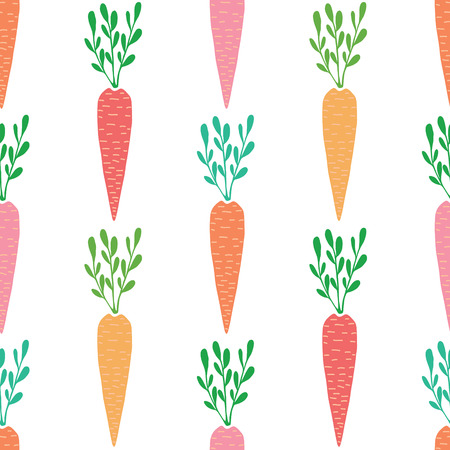 Vector yummy carrots seamless pattern background 向量圖像