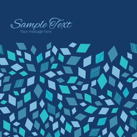 Vector Blue Mosaic Texture Horizontal Frame Seamless Pattern Background Banco de Imagens - 39583797