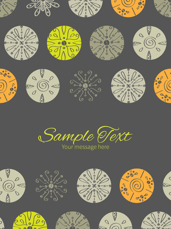 Vector abstract gray and green polka dot backgr vertical double borders frame invitation template Vector