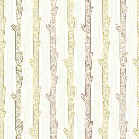 sienna: Vector wood logs stripes seamless pattern