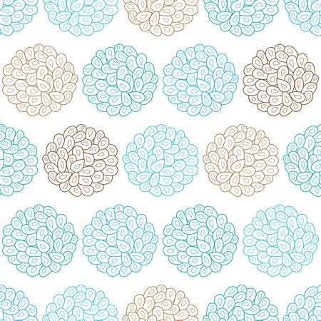 sienna: Vector drops bubbles seamless pattern