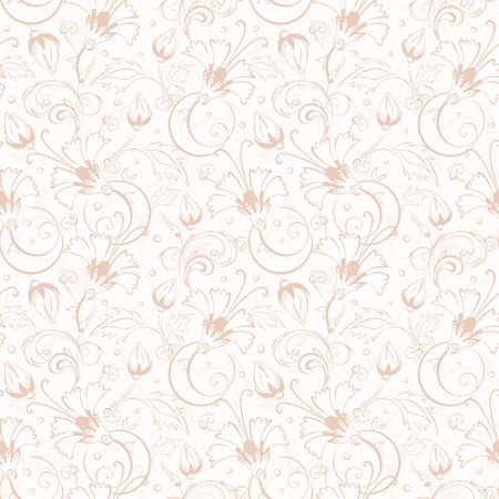 Vector vintage beige turkish floral seamless pattern