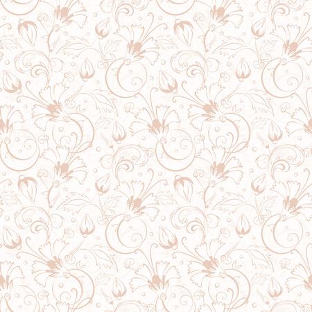 Vector vintage beige turkish floral seamless pattern