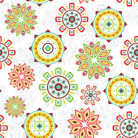 Vector colorful folk seamless pattern background graphic design Vector