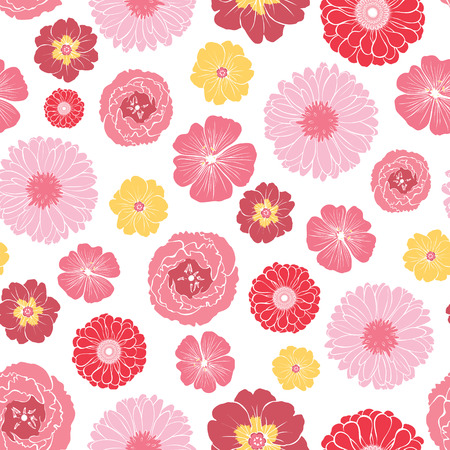 ladylike: Pink Gold Field Flowers Seamless Pattern