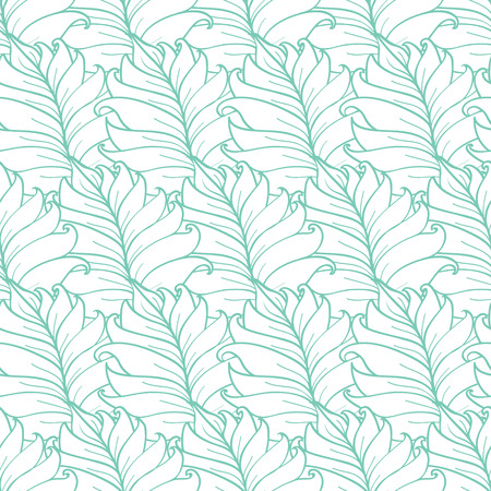 Vector Green Tropical Leaves Texture Seamless Pattern graphic design Illustration