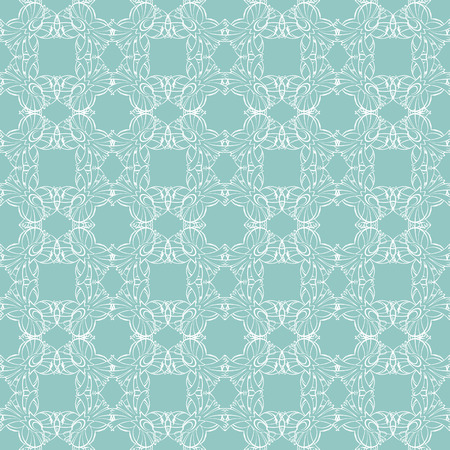 Vector Sea Green Abstract Drawing Seamless Pattern graphic design