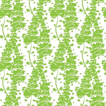 Vibrant Green Plants Seamless Pattern graphic design
