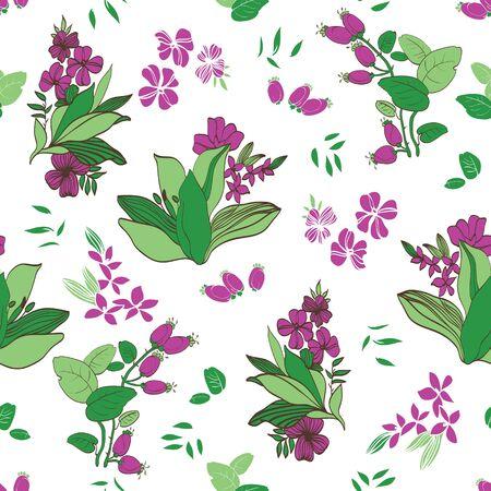 verde y morado: Vector Verde Violeta Jard�n floral dise�o gr�fico incons�til del modelo Vectores