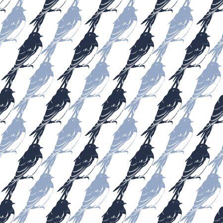 ベクトル座ってツバメ鳥斜めシームレス パターンのグラフィック デザイン