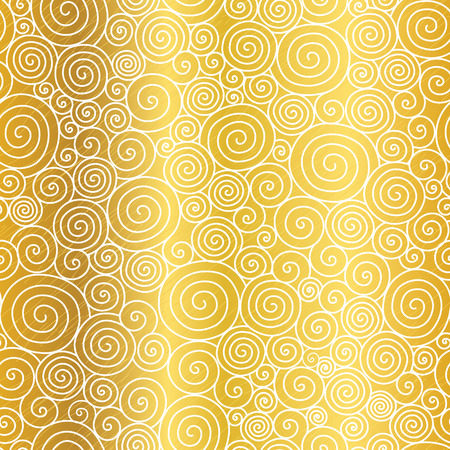 golden texture: Vector Golden Abstract Swirls Seamless Pattern Background. Great for elegant gold texture fabric, cards, wedding invitations, wallpaper.