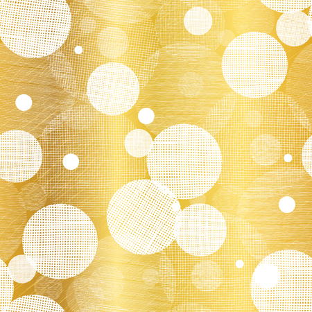 Vector Golden Abstract Swirls Seamless Pattern Background. Great for elegant gold texture fabric, cards, wedding invitations, wallpaper.