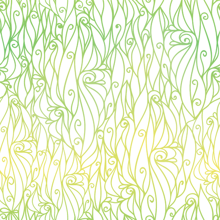 Vector Green Gradient Abstract Scrolls Swirls Seamless Pattern Background. Great for elegant texture fabric, cards, wedding invitations, wallpaper.