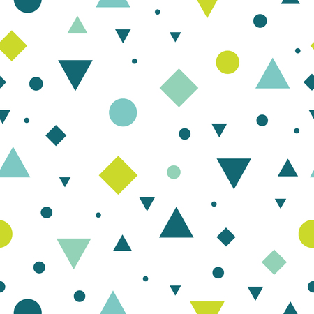rug texture: Vector Blue and Green Vintage Geometric Shapes Seamless Repeat Pattern Background. Perfect For Fabric, Packaging, Invitations, Wallpaper, Scrapbooking.