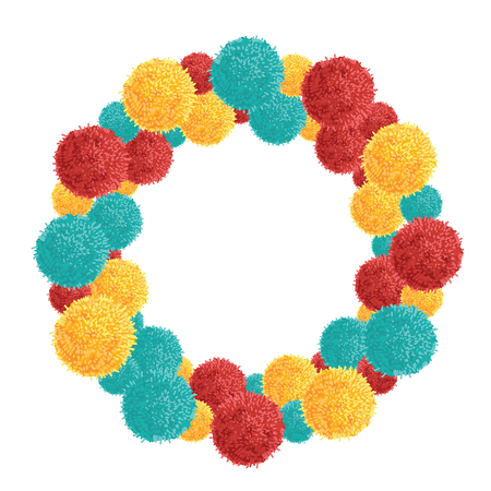 Vector Big Chunky Wreath With Colorful Vibrant Birthday Party ...