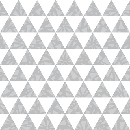 Vector silver grey triangle textured seamless repeat pattern background. Perfect for modern fabric, wallpaper, wrapping, stationery, home decor projects. Surface pattern design.