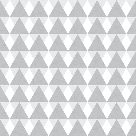 Vector silver grey geometric triangles seamless repeat pattern background. Perfect for modern fabric, wallpaper, wrapping, stationery, home decor projects. Illustration