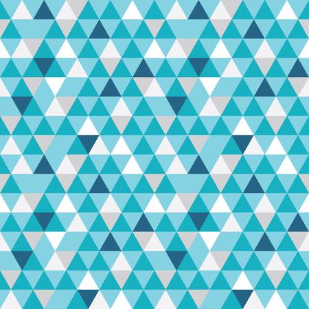 Vector blauwe en grijze driehoeken textuur naadloze herhaling patroon achtergrond. Perfect voor moderne stoffen, behang, verpakkingen, kantoorartikelen, huisinrichting projecten. Stockfoto - 82733239