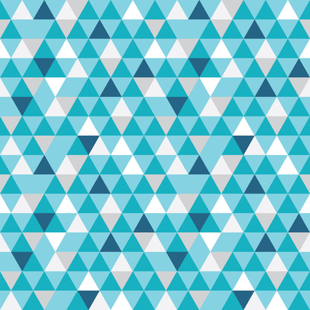 Vector blue and grey triangles texture seamless repeat pattern background. Perfect for modern fabric, wallpaper, wrapping, stationery, home decor projects. Illustration