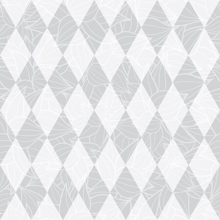 Vector silver grey geometric diamonds abstract textured seamless repeat pattern background. Perfect for modern fabric, wallpaper, wrapping, stationery, home decor projects. Surface pattern design.