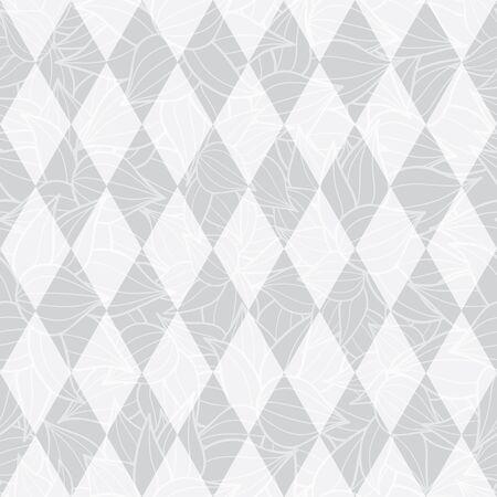 Vector zilvergrijs geometrische diamanten abstracte textuur naadloze herhaal patroon achtergrond. Perfect voor moderne stoffen, behang, verpakkingen, kantoorartikelen, huisinrichting projecten. Oppervlakte patroon ontwerp. Stockfoto - 82772612