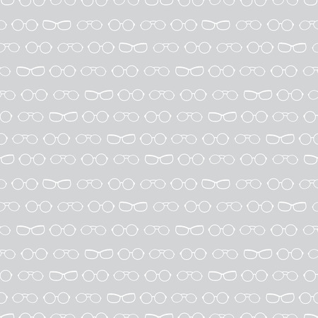 Vector silver grey and white glasses texture accessories stripes seamless pattern. Great for eyewear themed fabric, wallpaper, packaging. Illustration