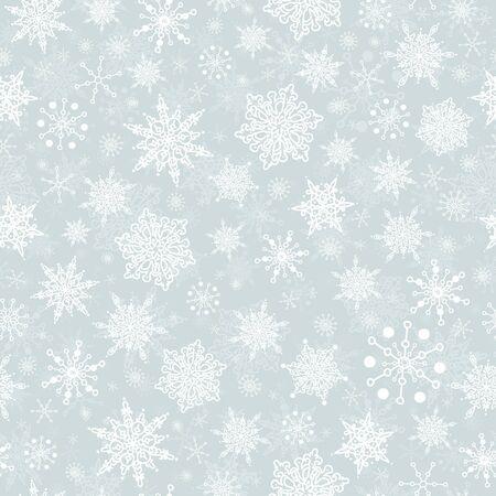 ベクトル シルバー グレー手描き人工雪は、シームレスなパターンの背景を繰り返します。ファブリック、壁紙、文具、包装に使用できます。  イラスト・ベクター素材