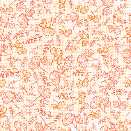 Vector seamless pattern with fall leaves on linen texture. Background for fabric or book covers, manufacturing, wallpapers, print, gift wrap, scrapbooking. Surface pattern design.