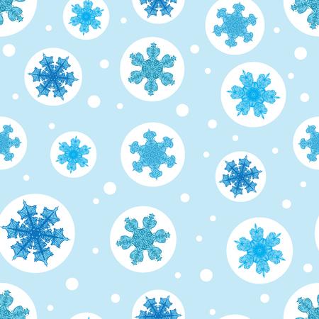 クリスマスの雪片とベクトルホリデーライトブルーの泡は、シームレスなパターンの背景を繰り返します。生地、壁紙、文房具、包装に使用するこ