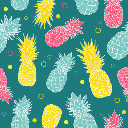 Colorful Pineapple pattern