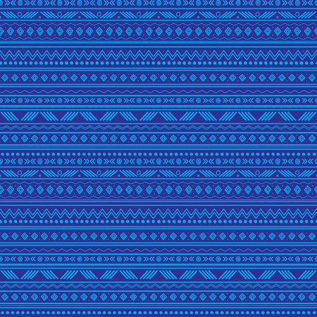 A Vector abstract blue tribal stripes seamless pattern background. Great for fabric, wallpaper, invitations, scrapbooking.