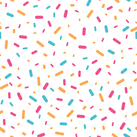 Colorful confetti sprinkles seamless pattern. Great for a birthday party or an event celebration invitation or decor. Surface pattern design.