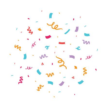 Ilustración de vector de confeti colorido Ideal para una fiesta de cumpleaños o una invitación o decoración de celebración de eventos. Ilustración de vector