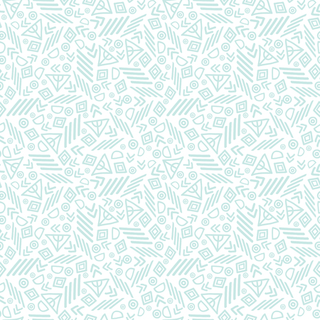 Blue tribal abstract seamless repeat pattern texture. Great for folk modern wallpaper, backgrounds, invitations, packaging design projects. Surface pattern design. Stock Photo