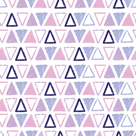 Purple pastel tribal triangles repeat pattern design. Great for folk modern wallpaper, backgrounds, invitations, packaging design projects. Surface pattern design.