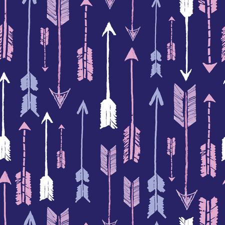 Navy tribal arrows repeat pattern design. Great for folk modern wallpaper, backgrounds, invitations, packaging design projects. Surface pattern design.
